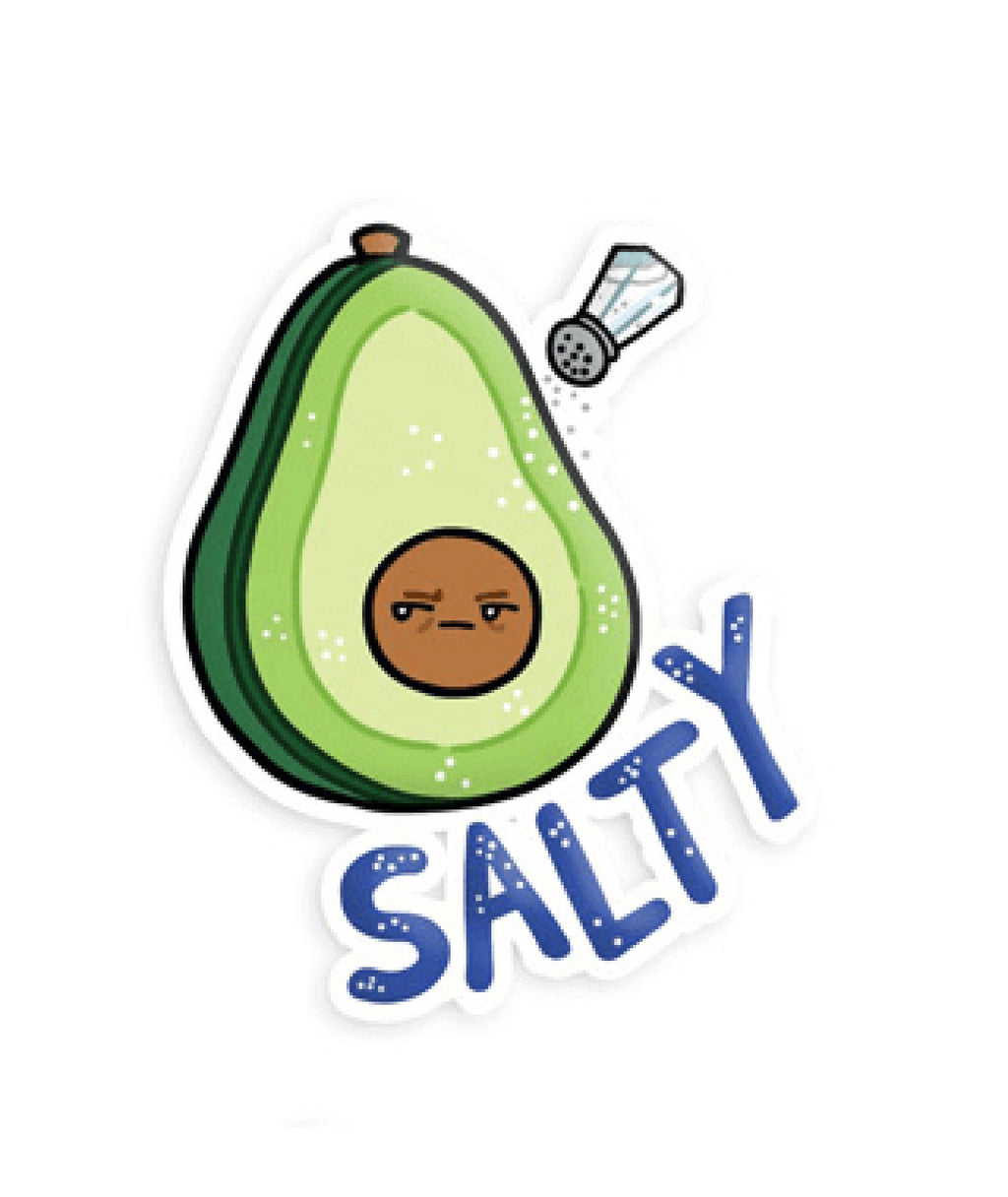 Squishable Vinyl Sticker Salty Avocado