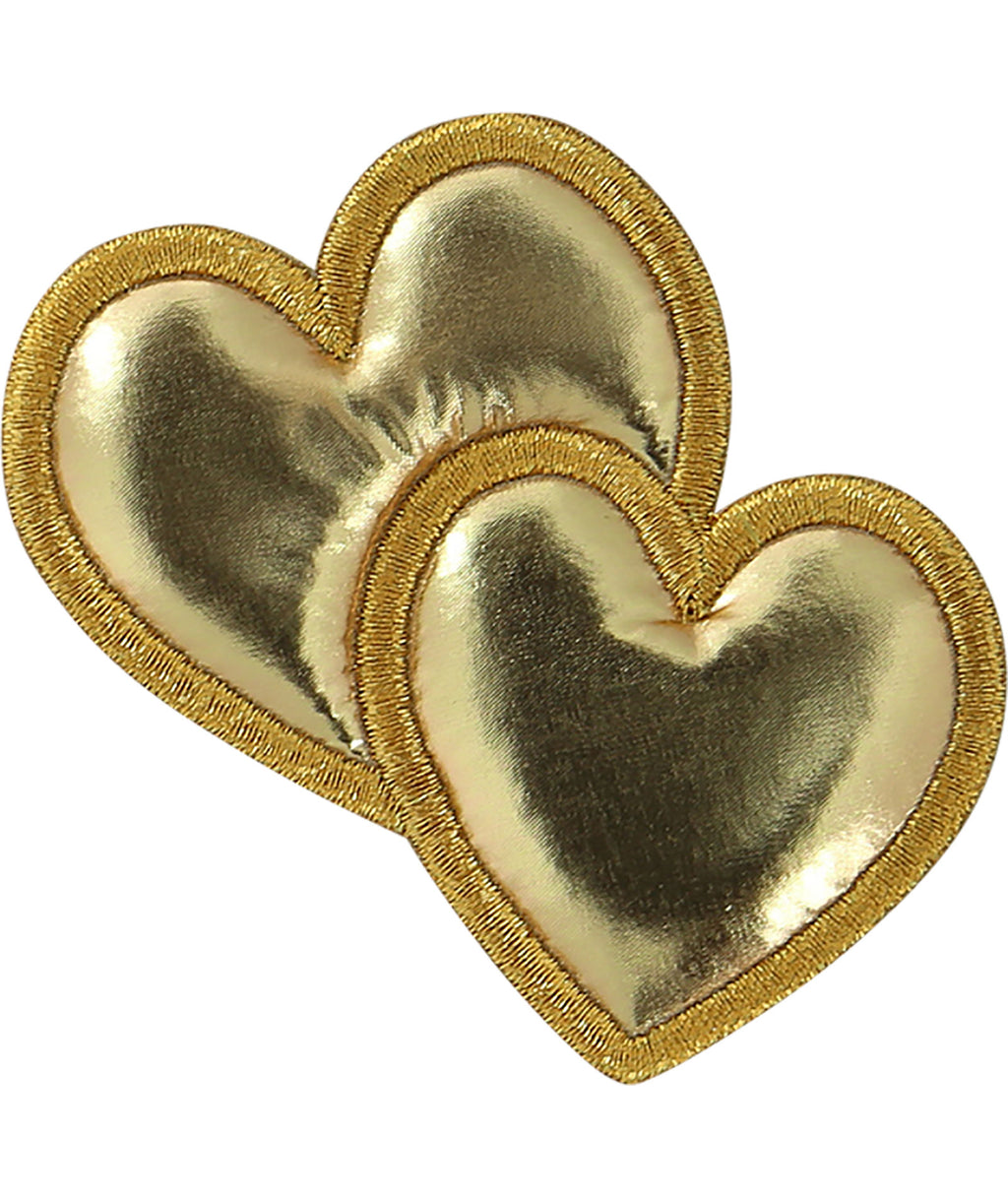 Stoney Clover Gold Puffy Heart Patch