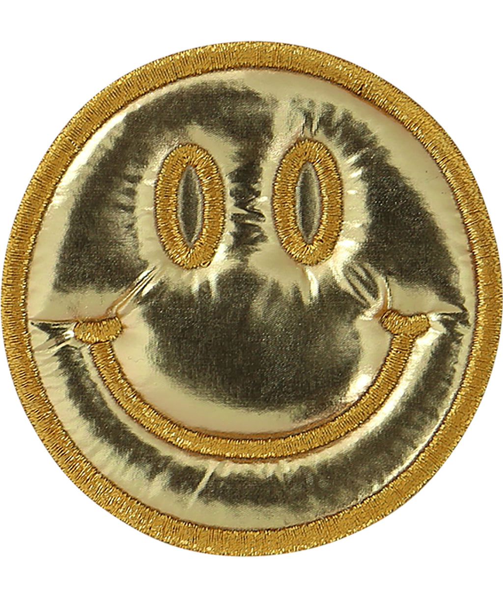 Stoney Clover Gold Puffy Smiley Face Patch