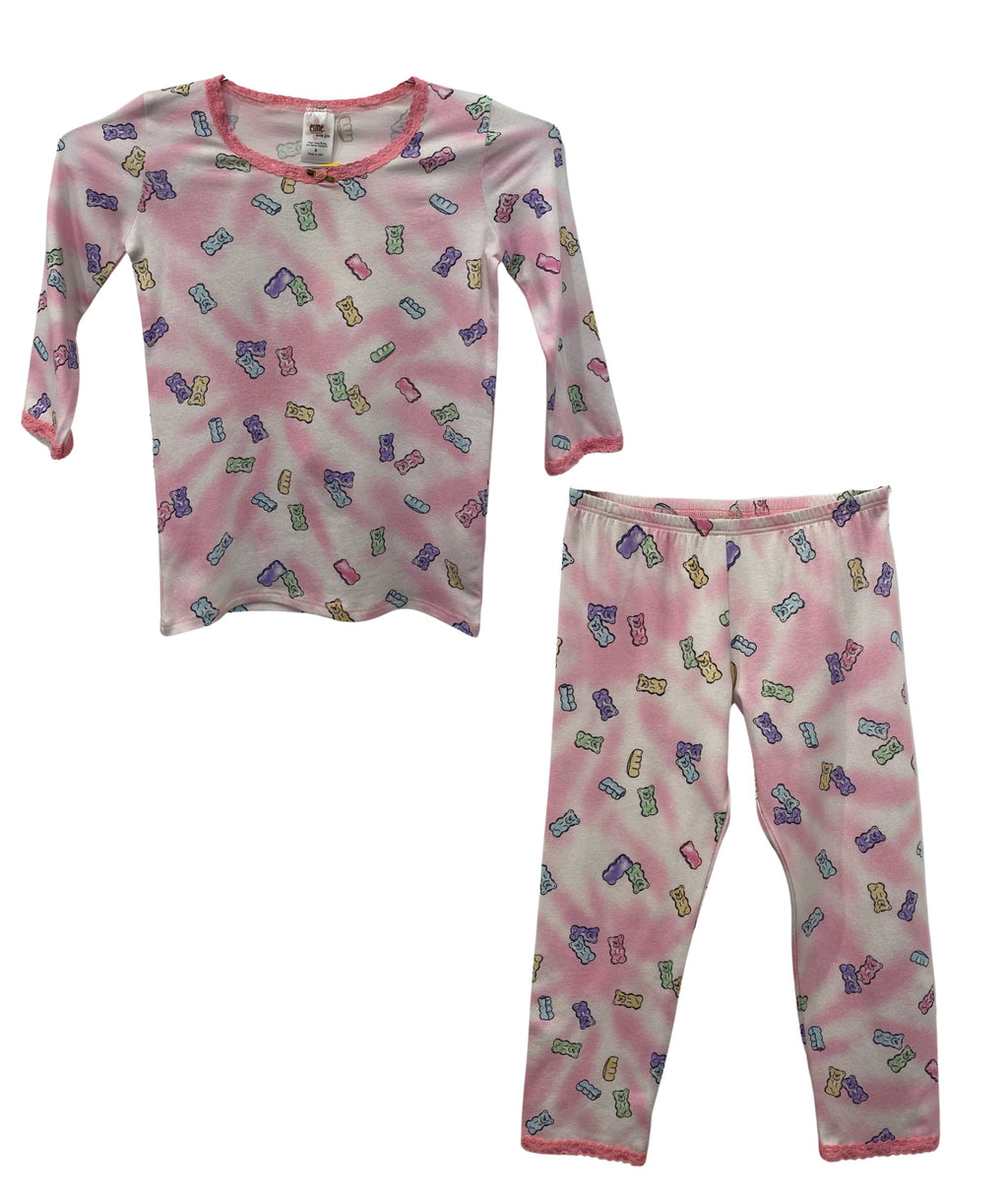 Esme Girls Candy Bear Shimmer 3/4 Sleeve Top/Leggings