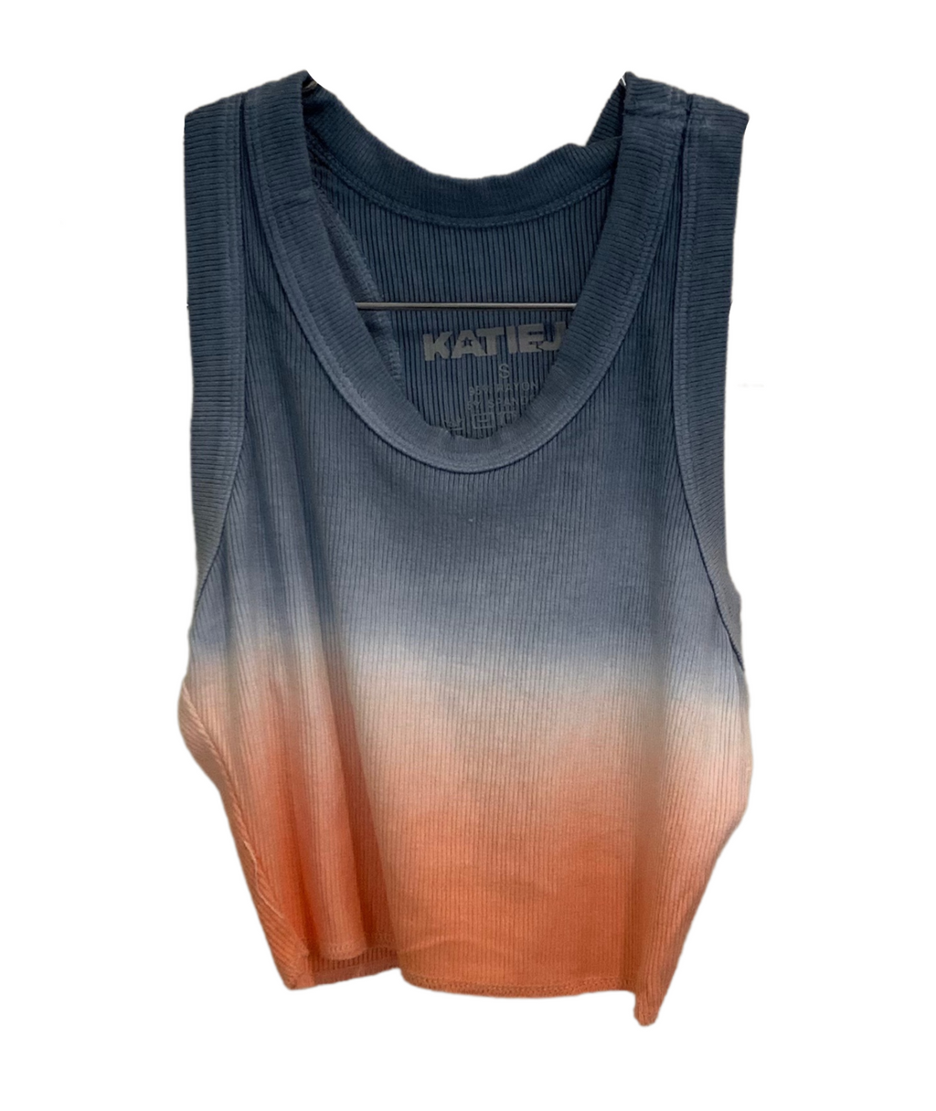 Katie J NYC Girls Livi Rain Cantalope Tie Dye Crop Top