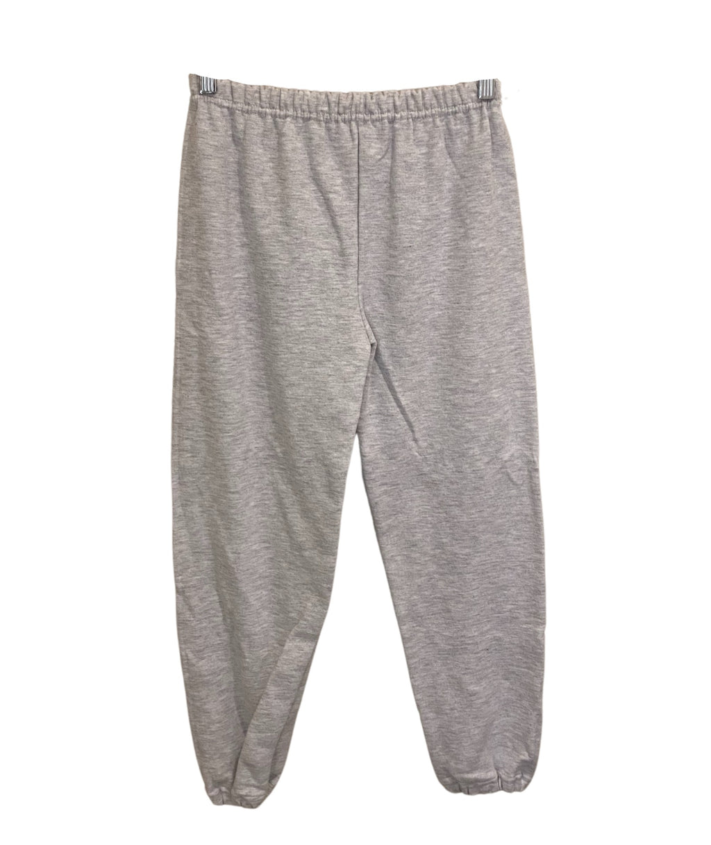 Gildan Distressed Varsity Sweatpants Light Grey