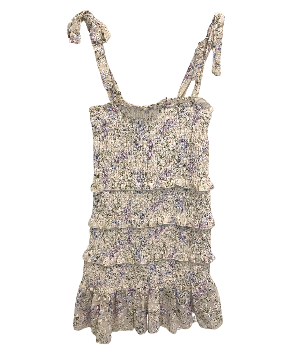 Katie J NYC Girls Evan Lilac Floral Dress