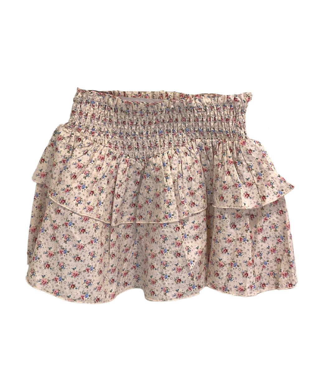 Katie J NYC Girls Brooke Pink Roses Floral Skirt