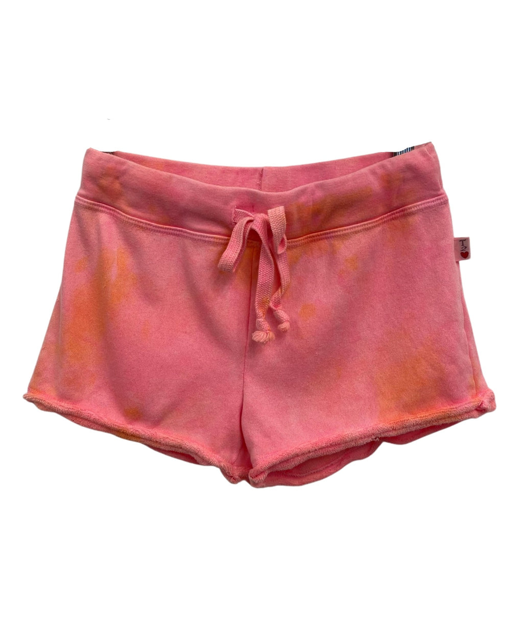 T2 Love Girls Neon Tie Dye Shorts With Pocket