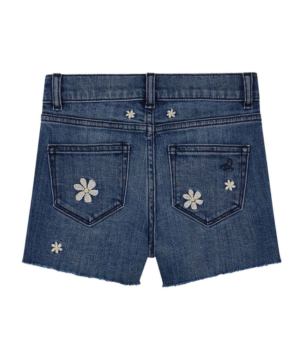 DL1961 Girls Lucy Pacific Daisy Cut Off Shorts
