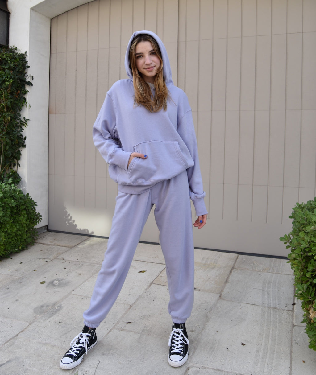 Katie J NYC Juniors Dylan Lilac Sweatpants