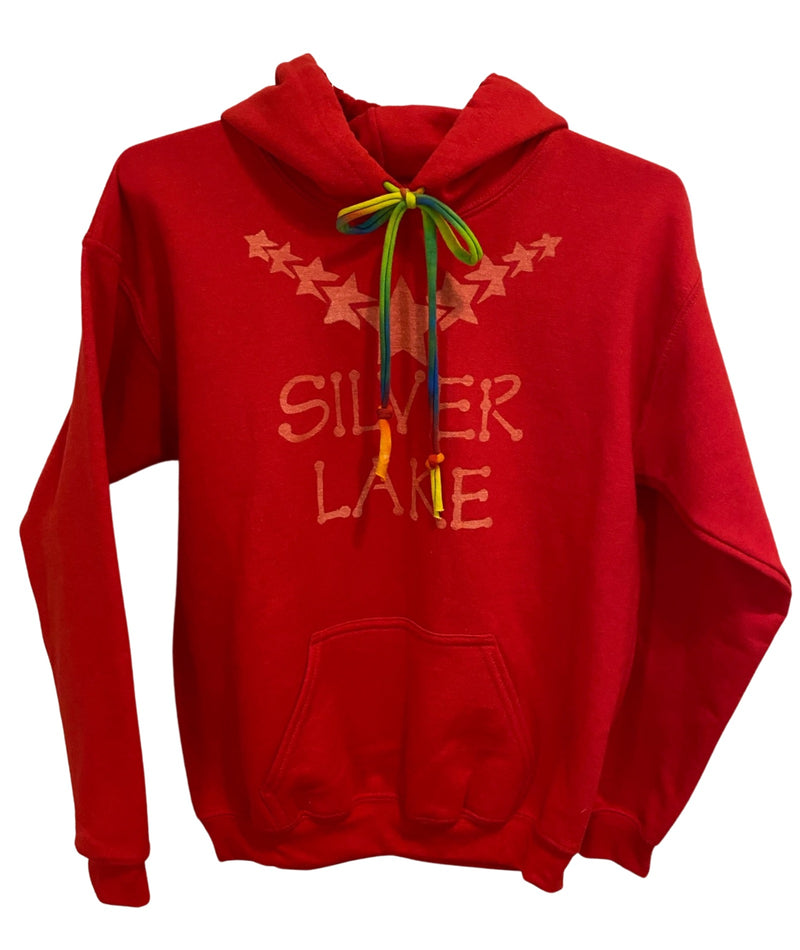 Ali & Joe Hoodie With Bright Tie Dye Strings Star Collar