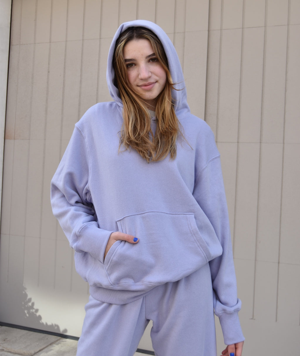 Katie J NYC Juniors Dylan Oversized Lilac Hoodie