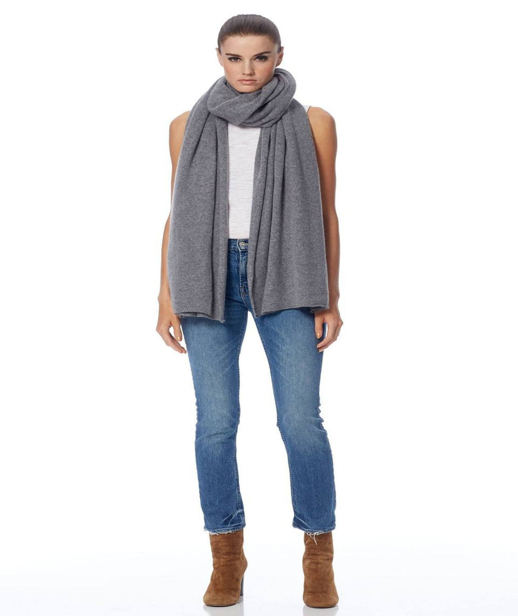 360 Cashmere Linus Scarf Heather Grey