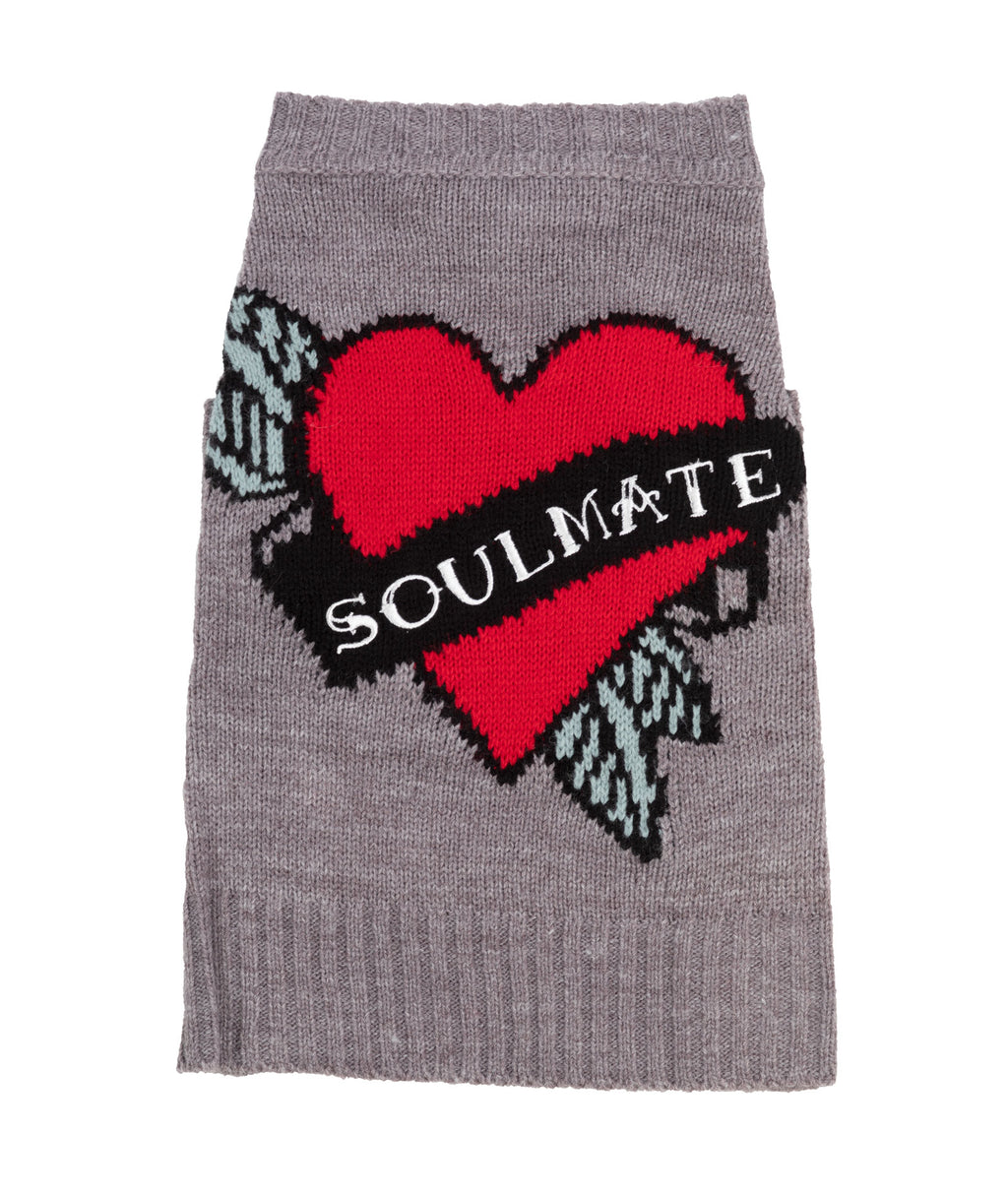 360 Cashmere Grey Soulmate Dog Sweater