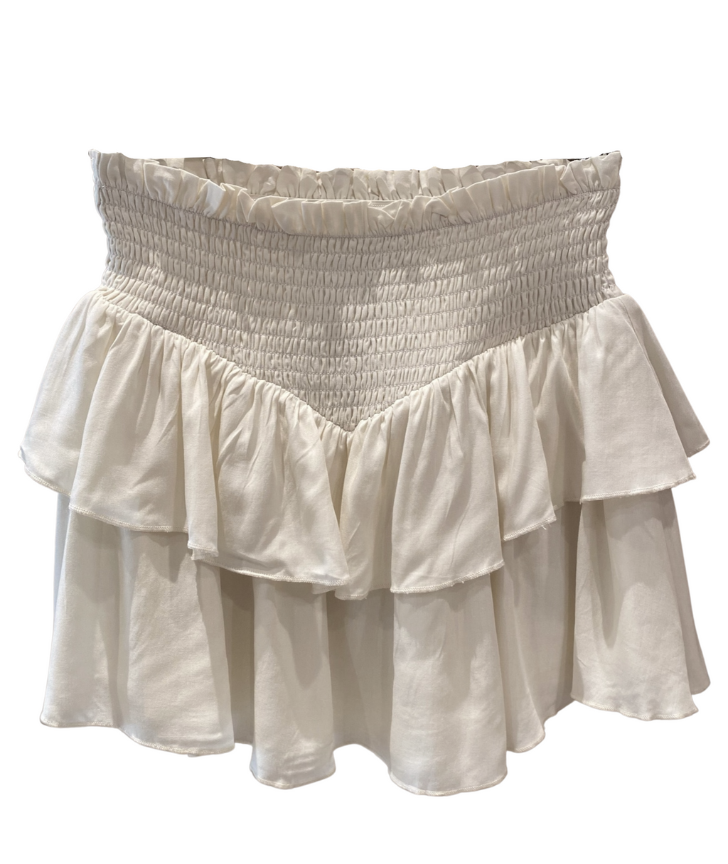 Katie J NYC Girls Brooke Natural Tiered Ruffle Skirt