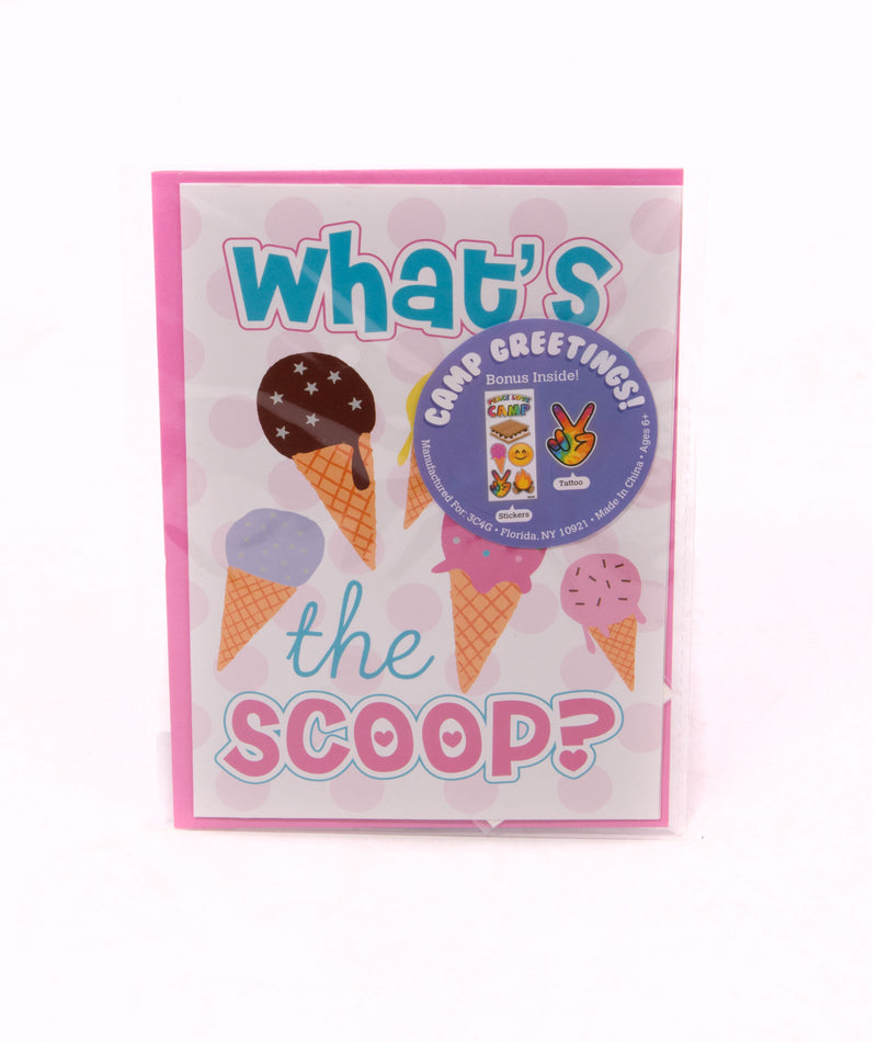 Three Cheers for Girls What's the Scoop Card - Frankie's on the Park