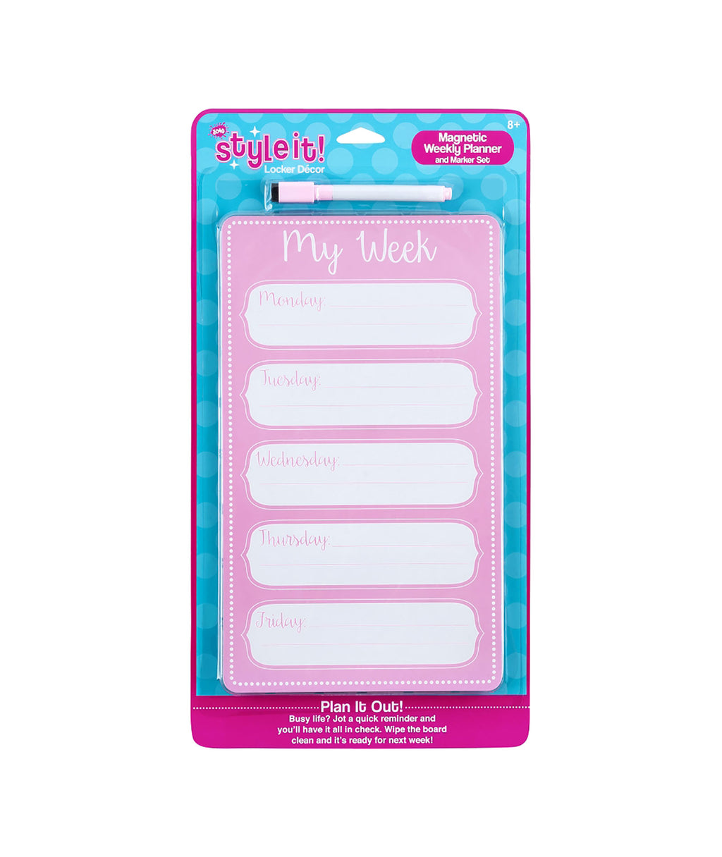 Three Cheers for Girls Pink Planner Dry Erase Board