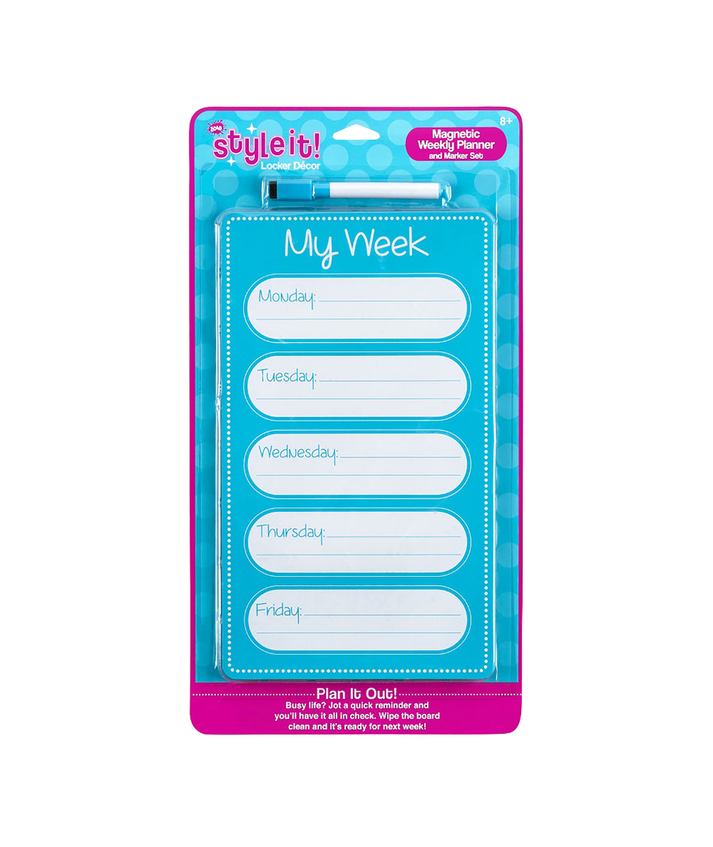 Three Cheers for Girls Turquoise Planner Dry Erase Board