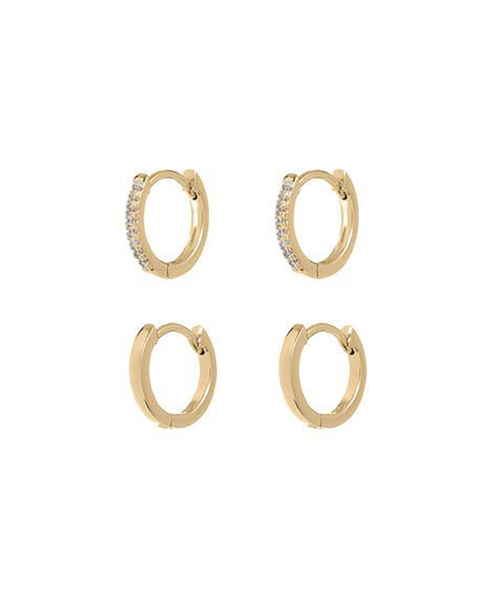 Luv AJ Sorrento Gold Hoops