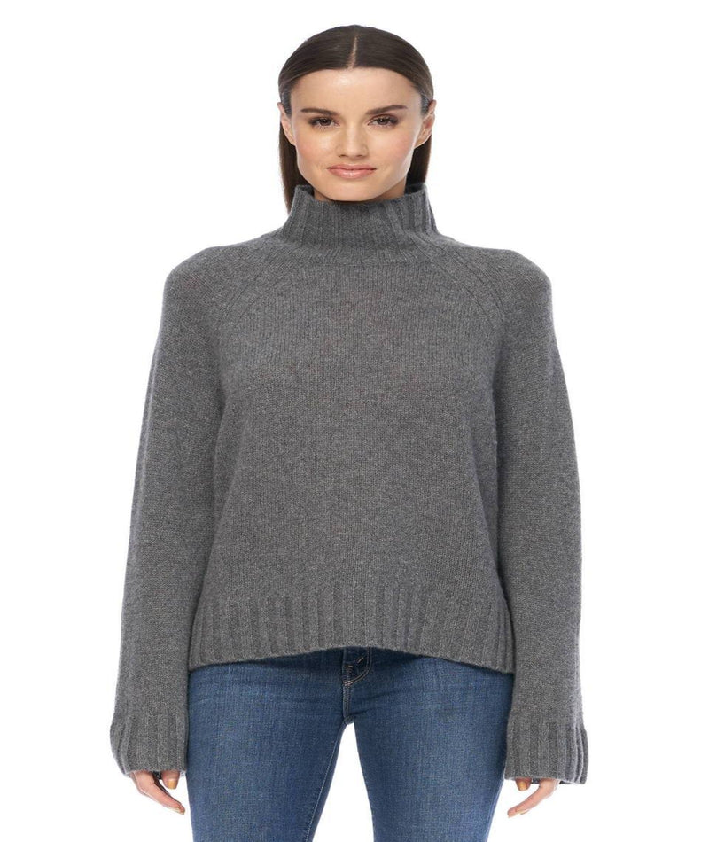 360 Cashmere Women Laurel Chalk Black Sweater