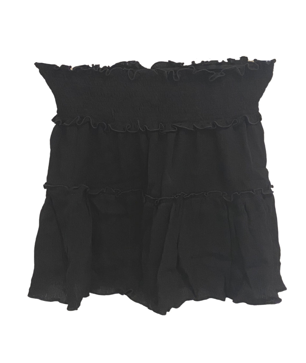 Flowers By Zoe Girls Tiered Skirt Black