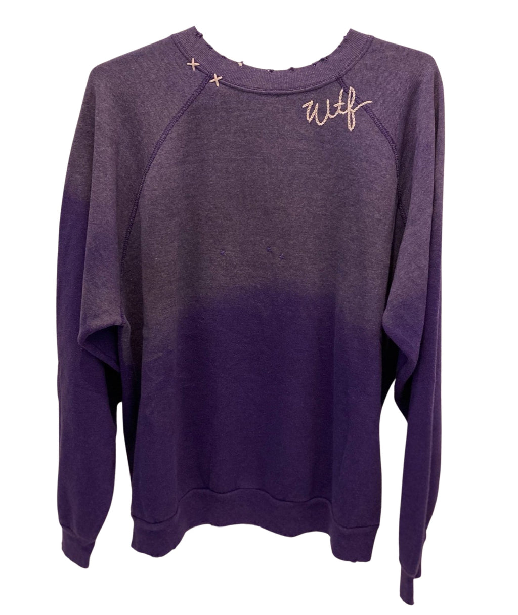 I Stole My Boyfriend's Shirt Women Cool WTF Sweatshirt Dark Purple
