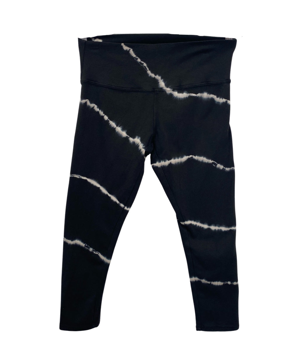 T2 Love Girls Tie Dye Crop Legging Black/White