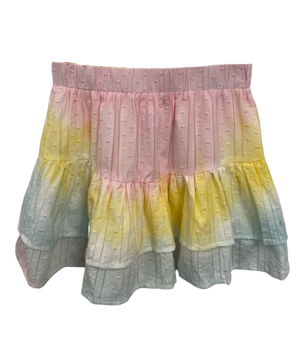 Jill Rainbow Tie Dye Mini Skirt Women