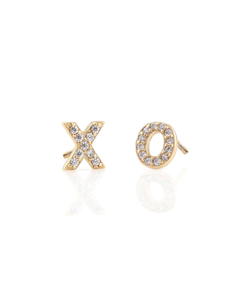 Kris Nations XO Gold Stud Earrings