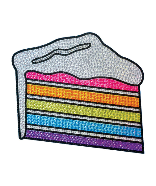 iScream Large Rainbow Cake Rhinestone Decal