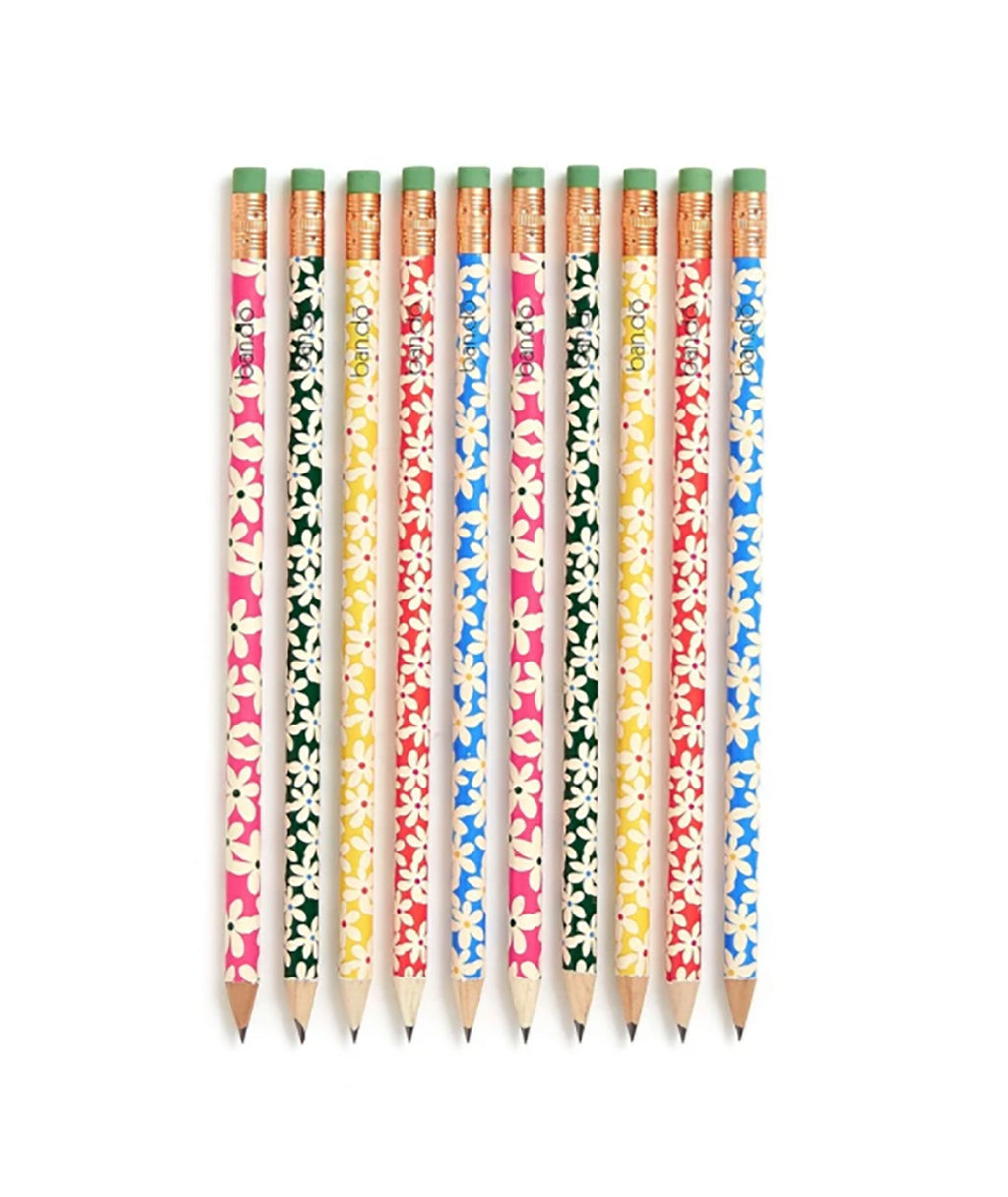 Ban.do Write On Daisies Pencil Set