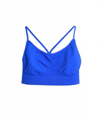 Malibu Sugar Bra Cami with Shirring, Blue