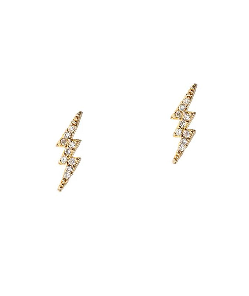 TAI Silver CZ Thunder Earrings
