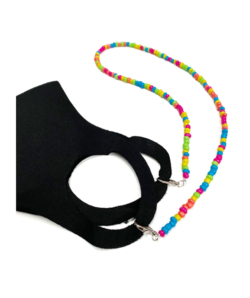 Confetti & Friends Neon Beaded Mask Chain