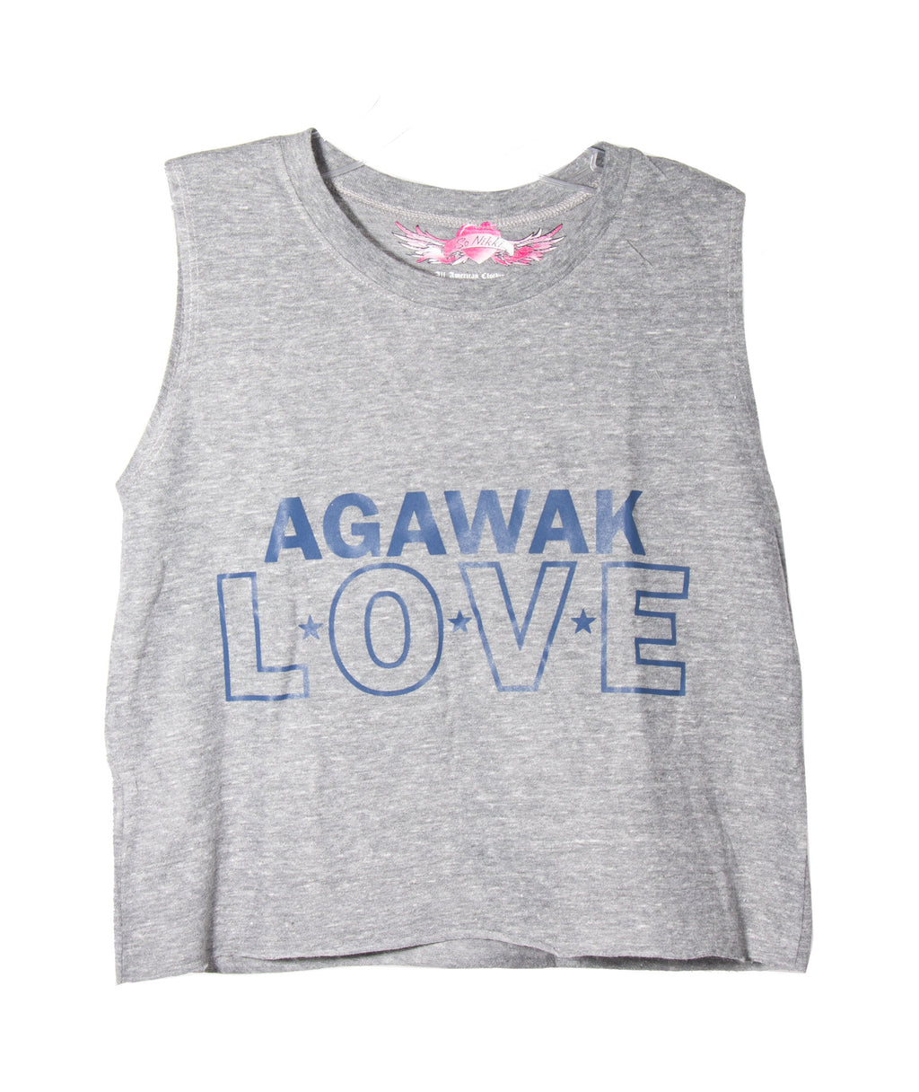 Camp Love Crop Tank Heather