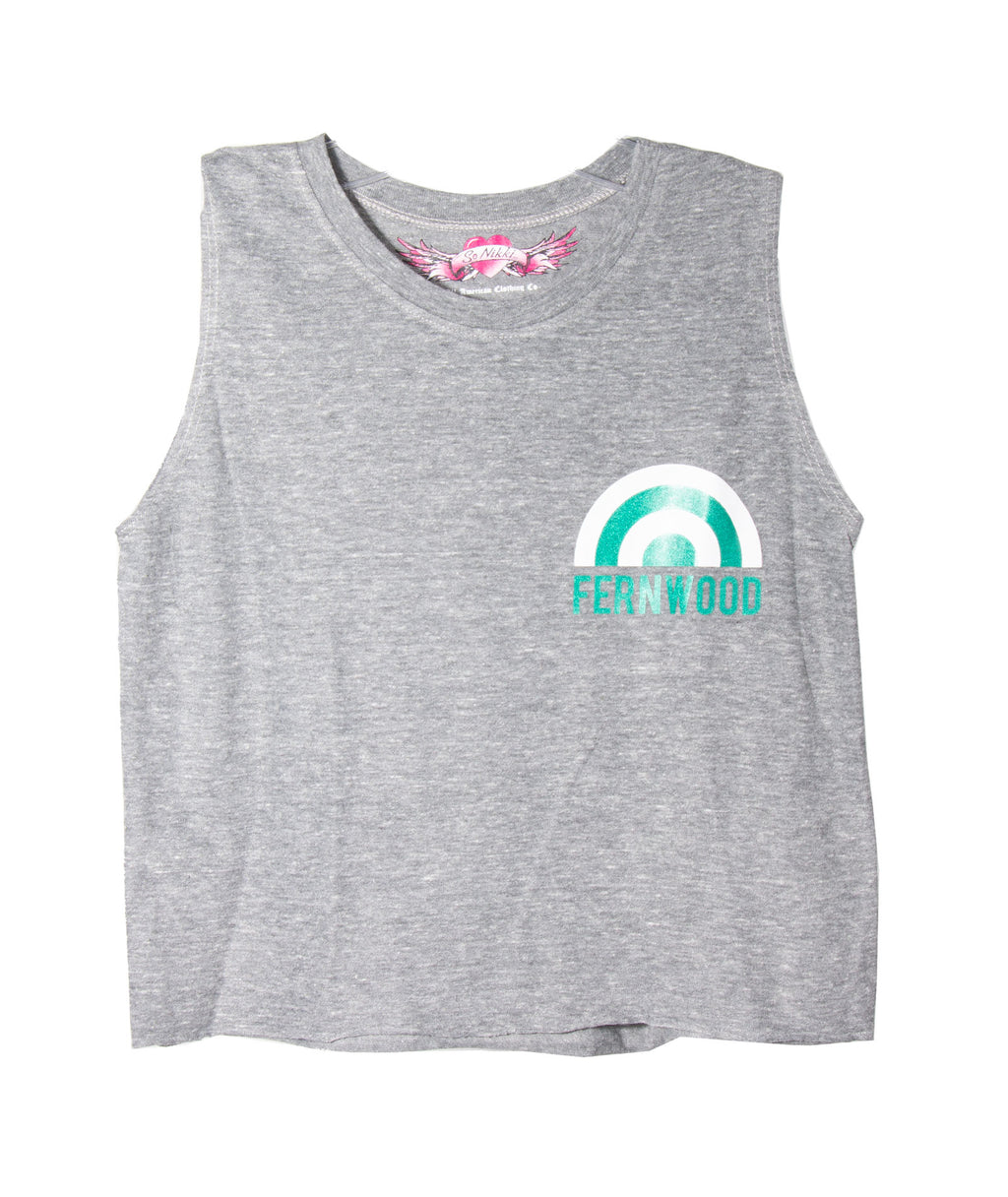 Glitter Rainbow Crop Tank Heather Girls