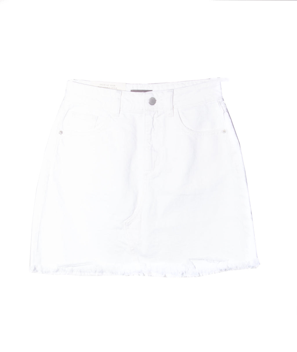 DL1961 Women Georgia Presley White Skirt