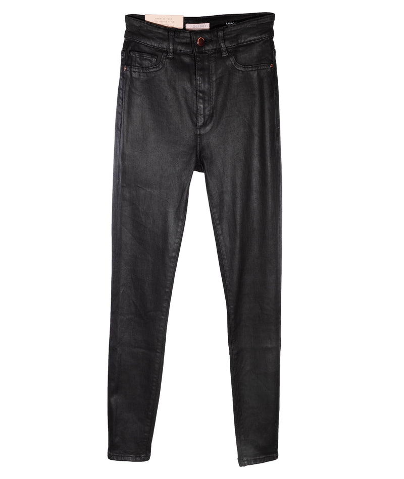 DL1961 Women Black Farrow Ankle High Rise Skinny Sonoma Jeans