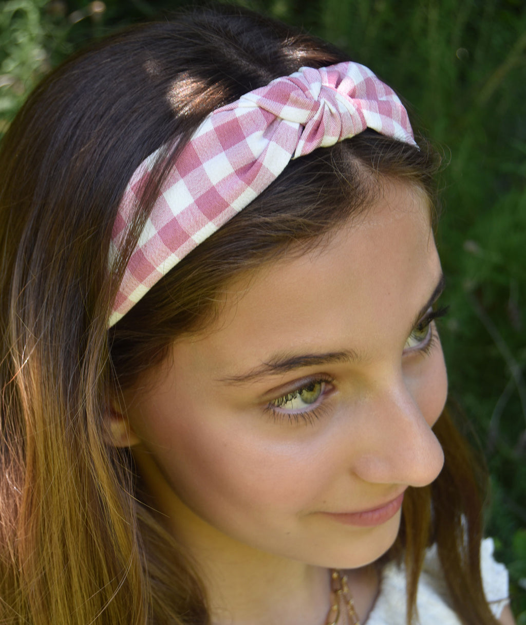 Fashionista J Gingham Headband