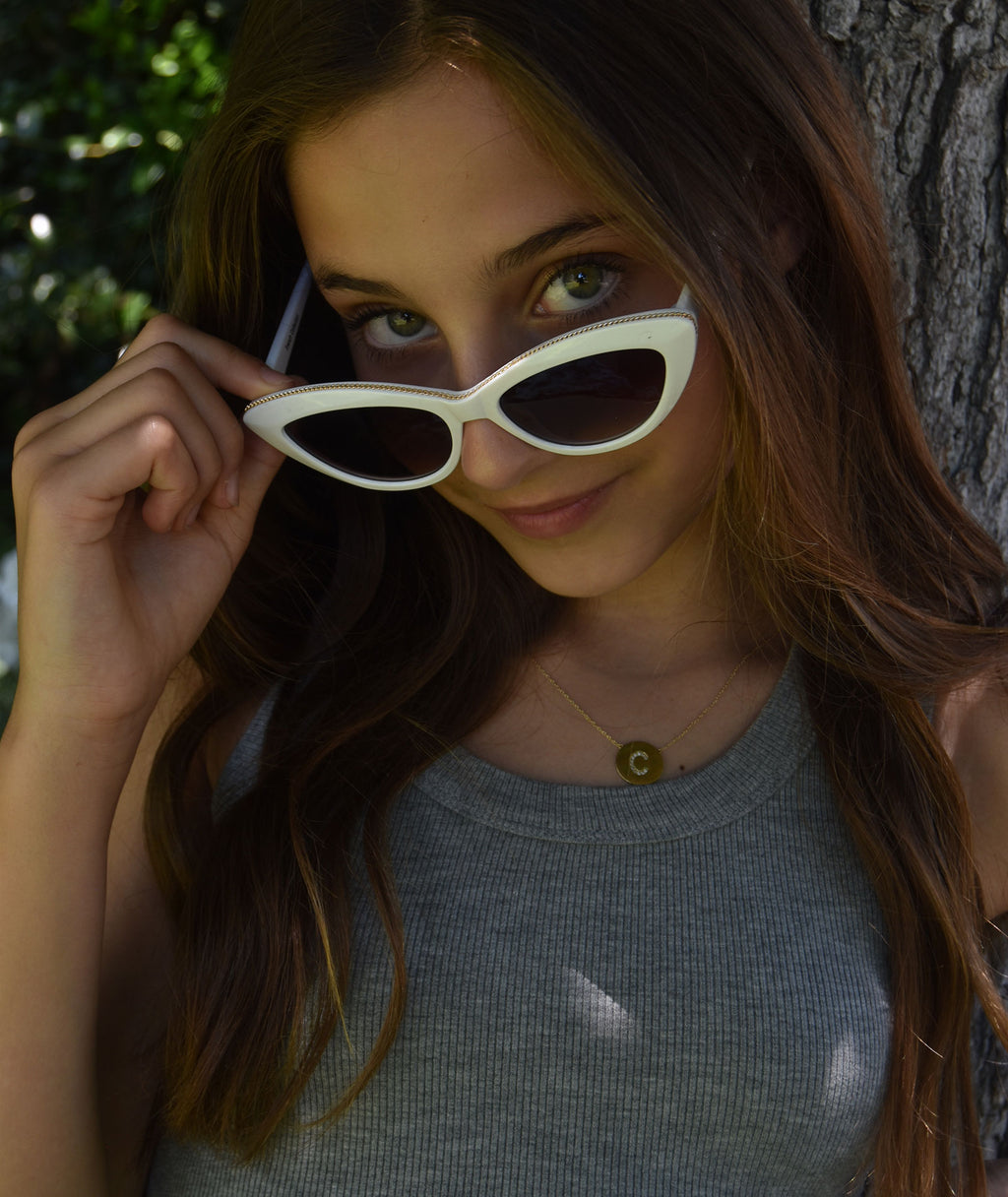 Fashionista J Gold Cat Eye Sunglasses