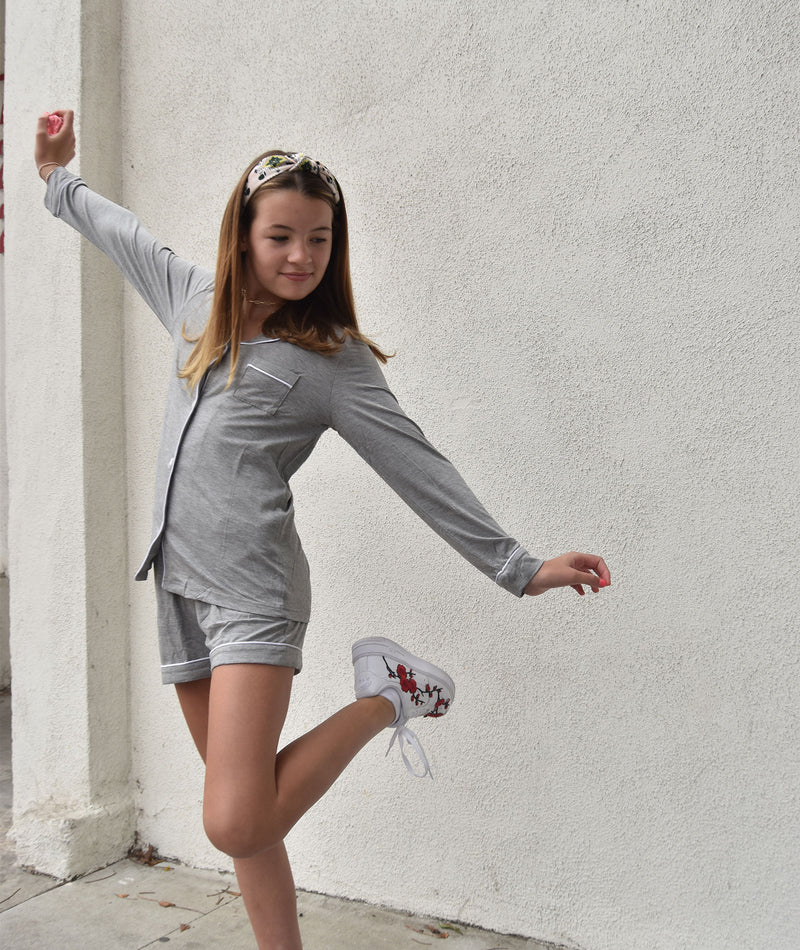 Katie J NYC Girls Julia Heather Grey Set