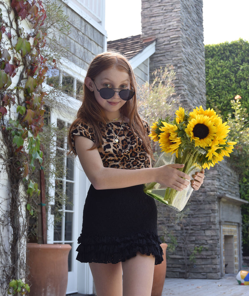 Katie J NYC Girls Lexi Leopard Midi Top