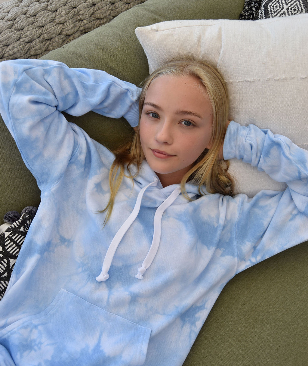 Katie J NYC Juniors Baby Blue Cloud Boyfriend Hoodie
