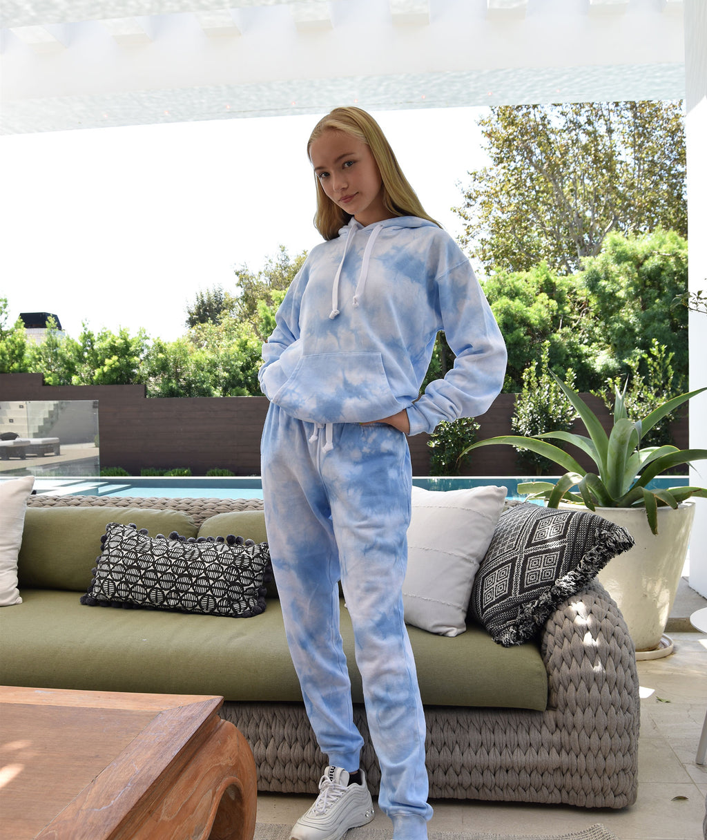Katie J NYC Juniors Baby Blue Cloud Sweatpants