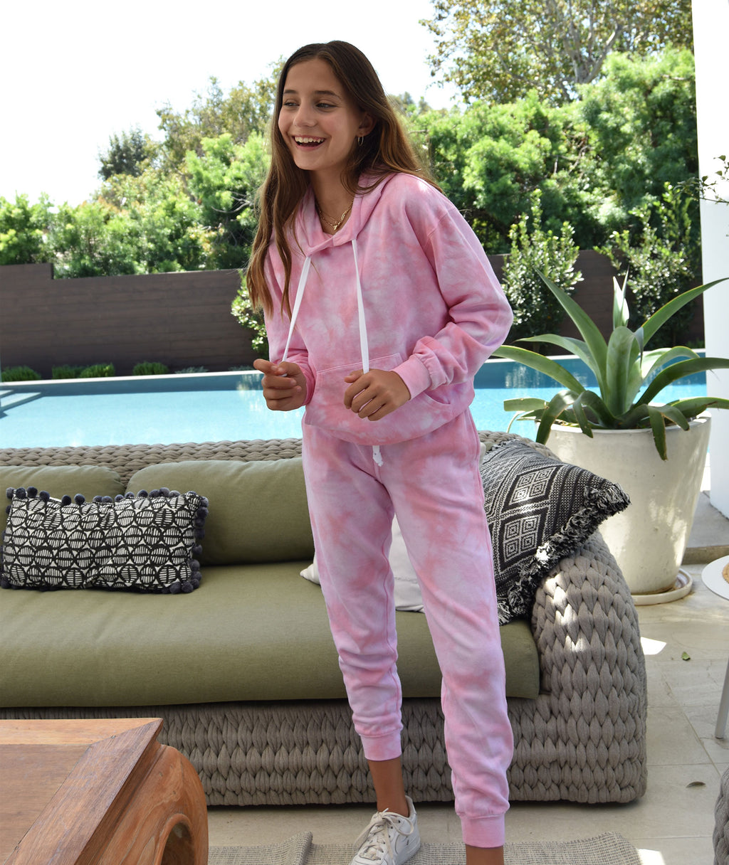 Katie J NYC Girls Pink Cloud Sweatpants