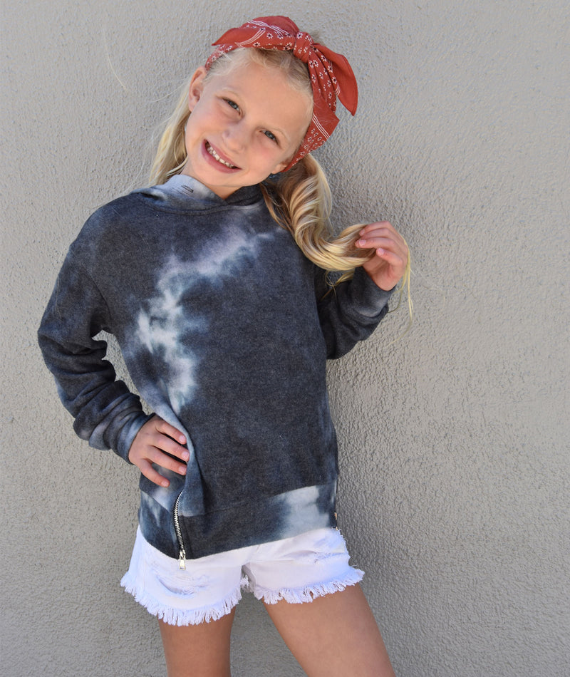 Me.N.U Girls Tie Dye Zip Hoody