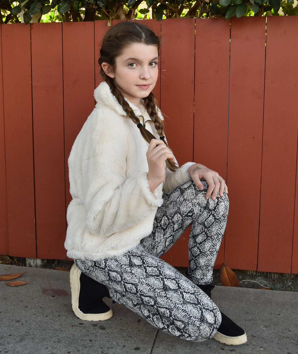 Me.n.u Girls Snakeskin Legging