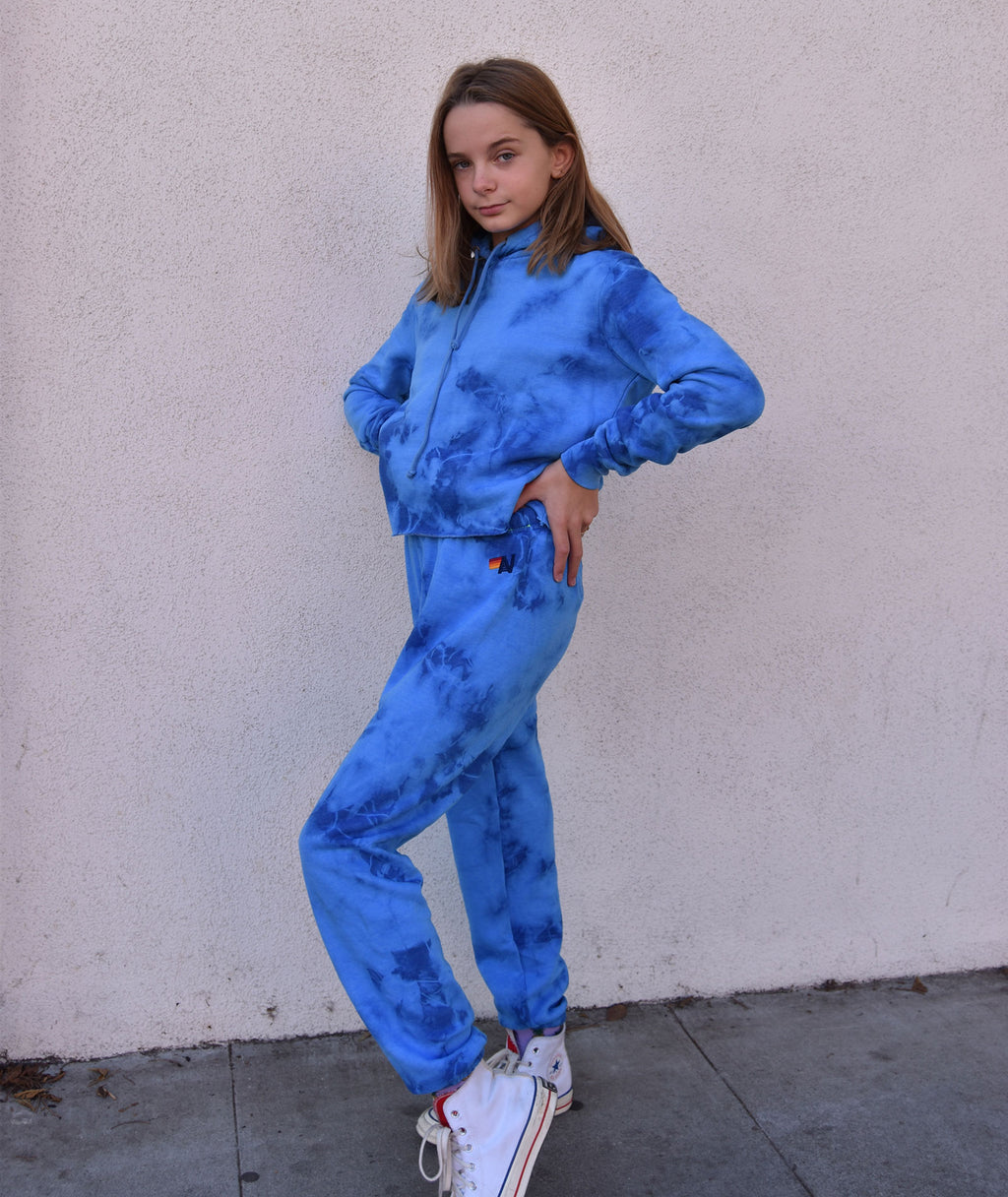 Aviator Nation Women Hand Dyed Crystal Royal Tie-Dye Sweatpants
