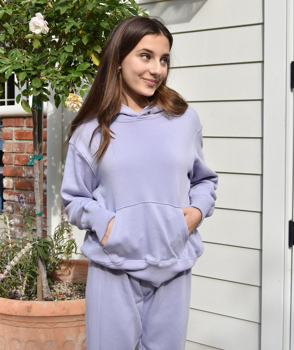 Katie J NYC Girls Dylan Oversized Hoodie Lilac