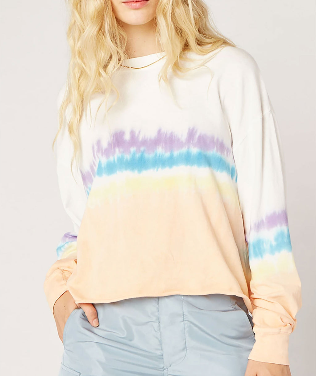 Daydreamer Women Sherbet Tie Dye Crop Top