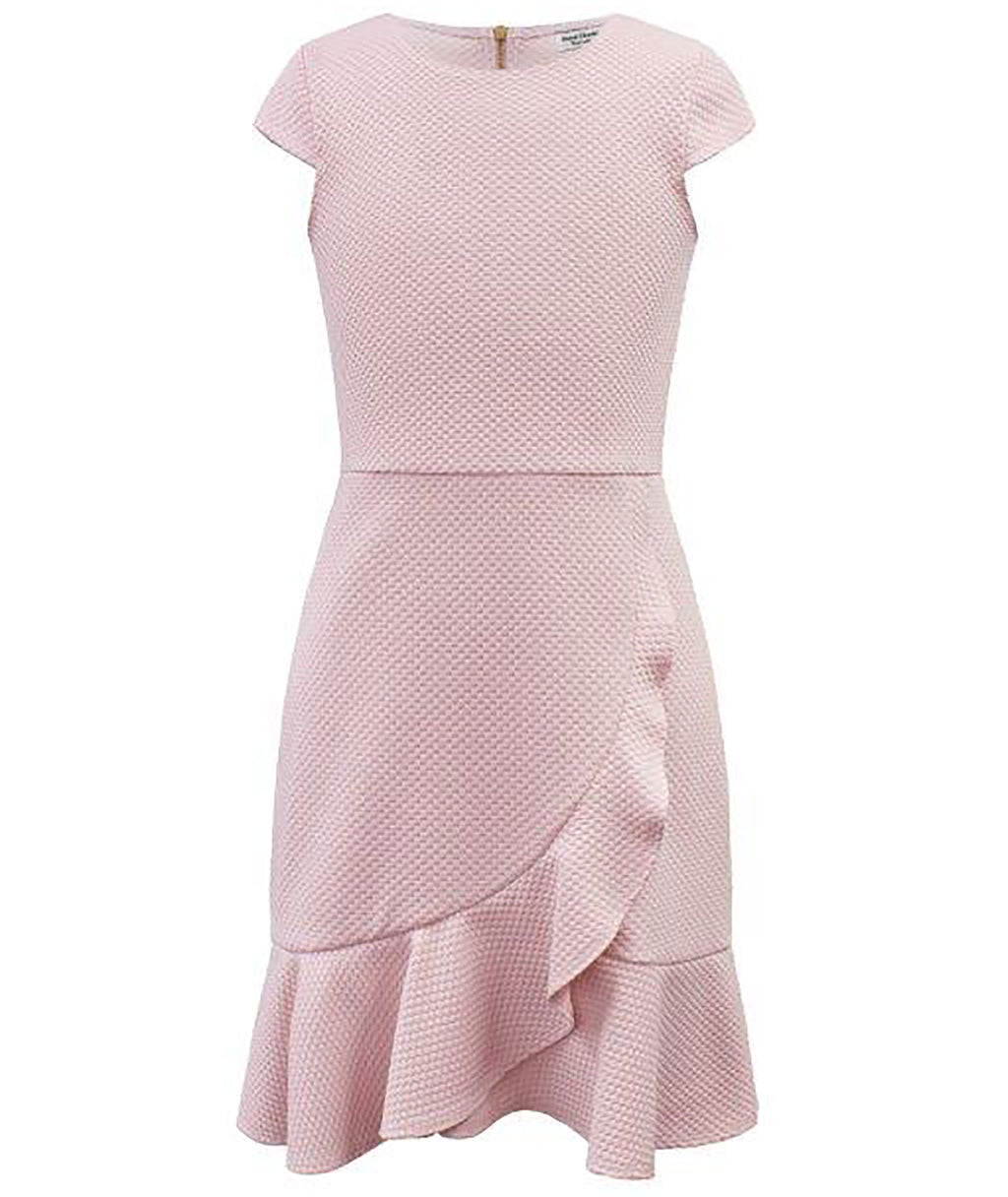 David Charles Girls Pink Ruffle Dress