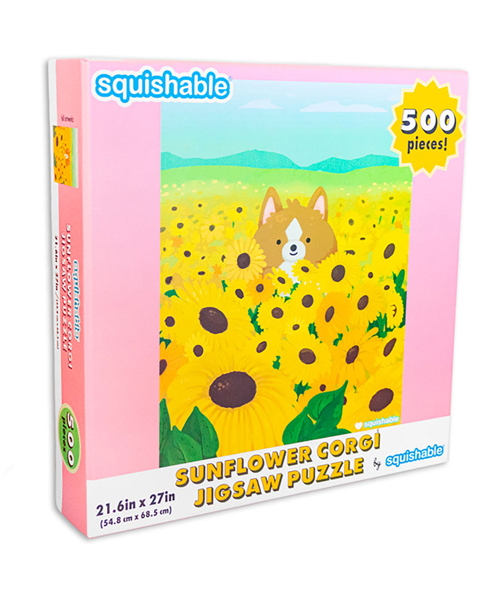 Squishable Puzzle Sunflower Corgi