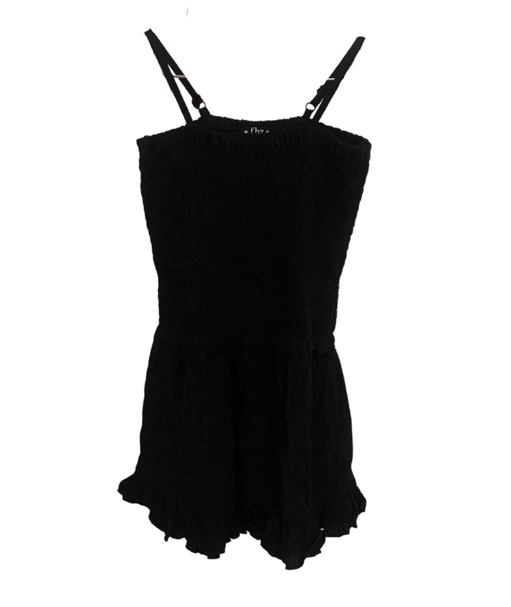 Flowers By Zoe Girls Black Romper